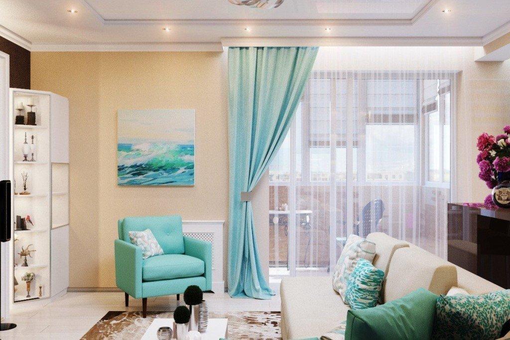 Квартира 50 кв м в морском стиле