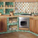 Кухня с интерьером в стиле прованс