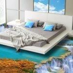 Интерьер спальни с 3d-полом