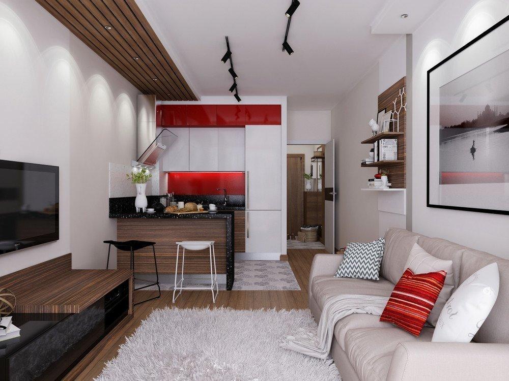 Светлый дизайн квартиры-студии