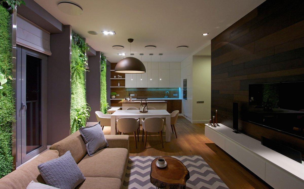 Дизайн прямоугольной квартиры-студии