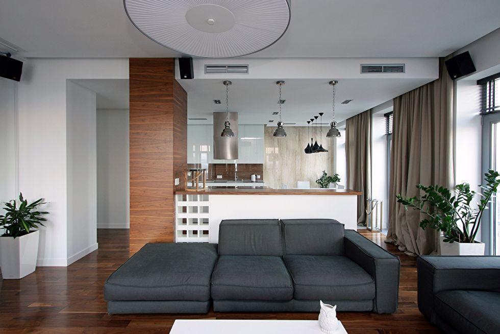 Зонирование квартиры-студии