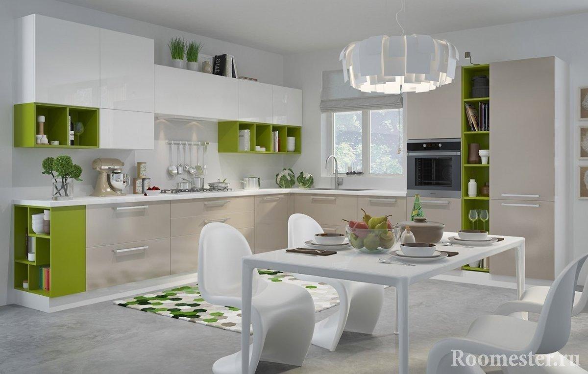 Кухня с современным интерьером