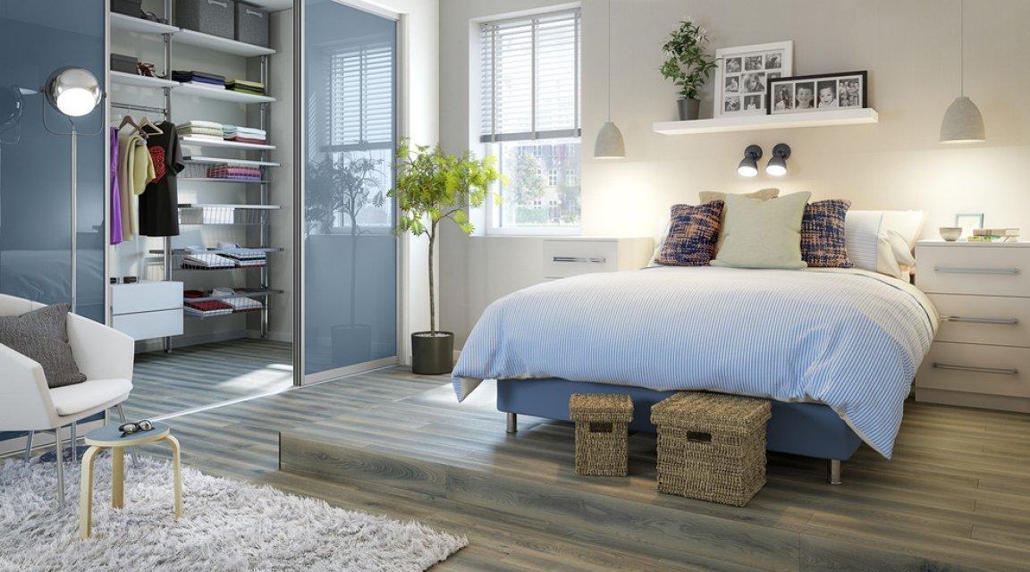 Спальня-гостиная 18 кв м с гардеробной