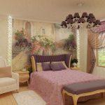 Спальня с красивым дизайном