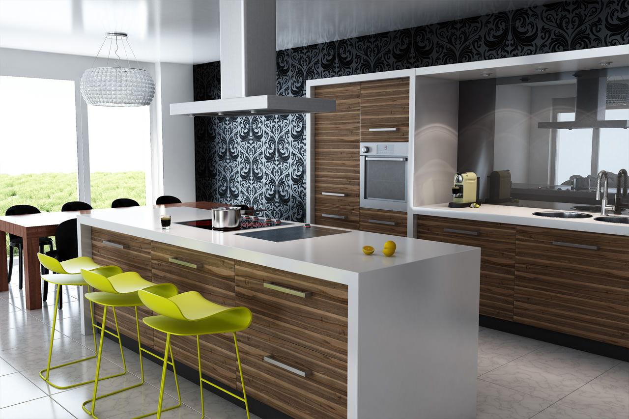 Интерьер кухни 2018
