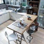 Использование фактуры натурального дерева в дизайне кухонной мебели