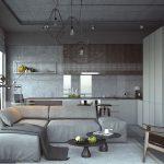 Кухня-гостиная в стиле лофт