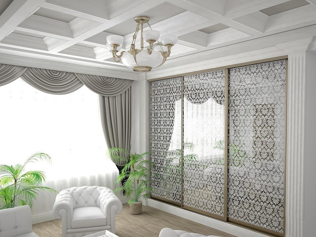Гостиная с белым интерьером