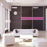 Белоснежная мебель в интерьере гостиной