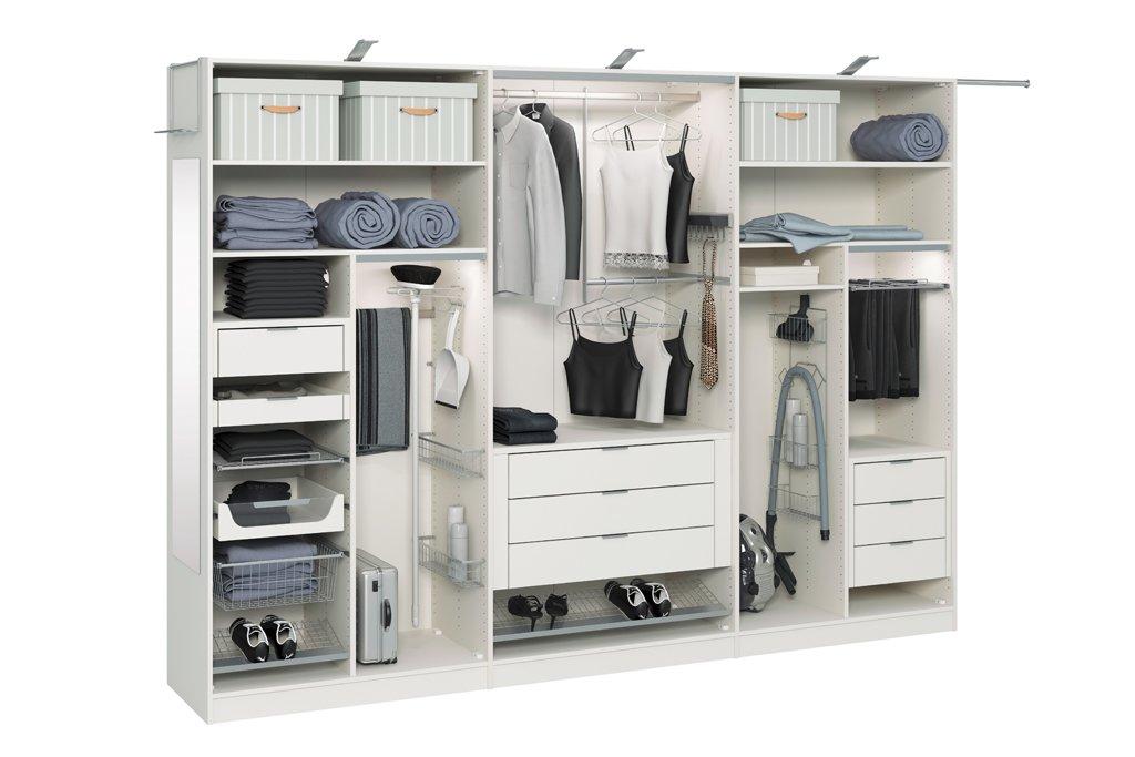 Наполнение шкафа-купе в спальне
