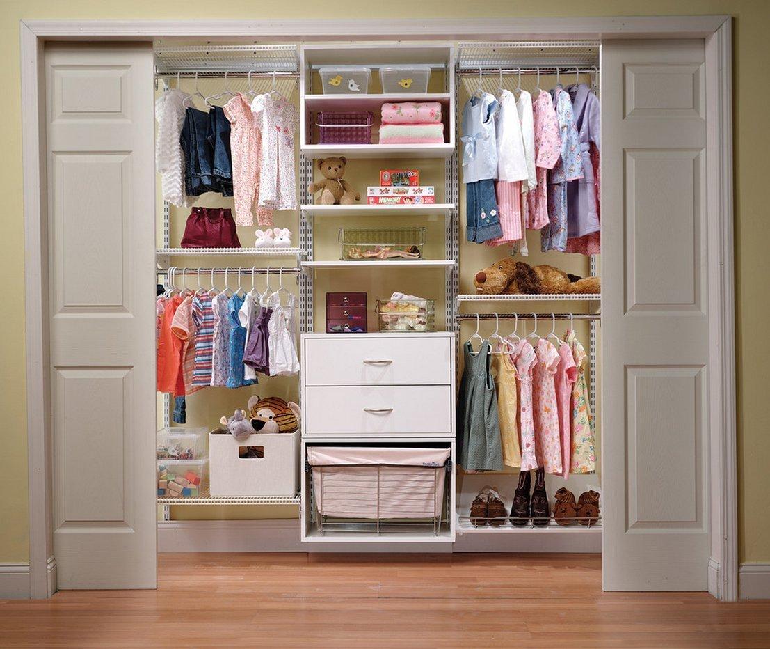 Наполнение шкафа-купе в детской
