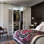 Шкаф-купе с решетчатыми дверьми