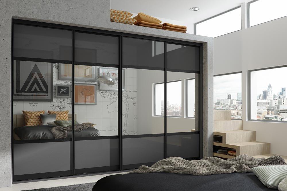 Спальня в стиле модерн со шкафом-купе