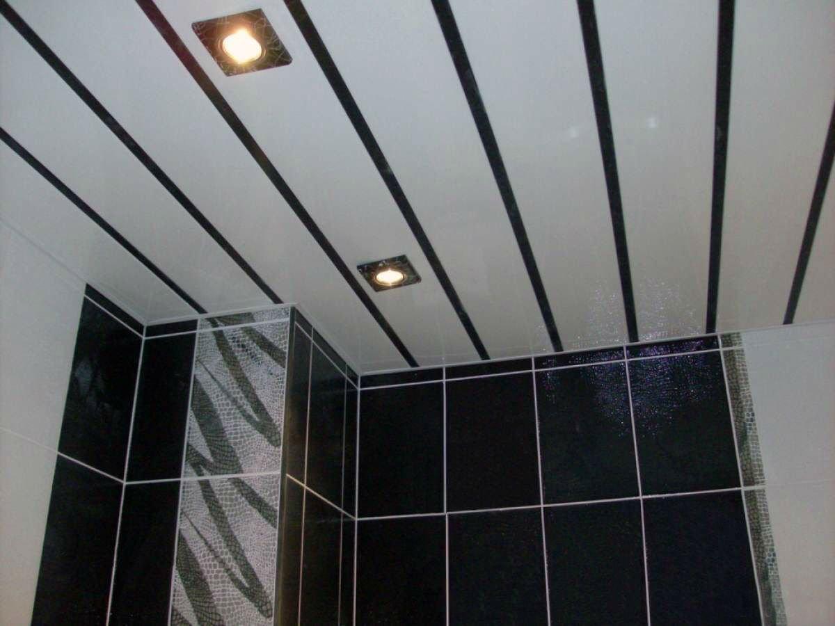 Потолок из ДСП в ванной