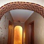 Мозаика на арке