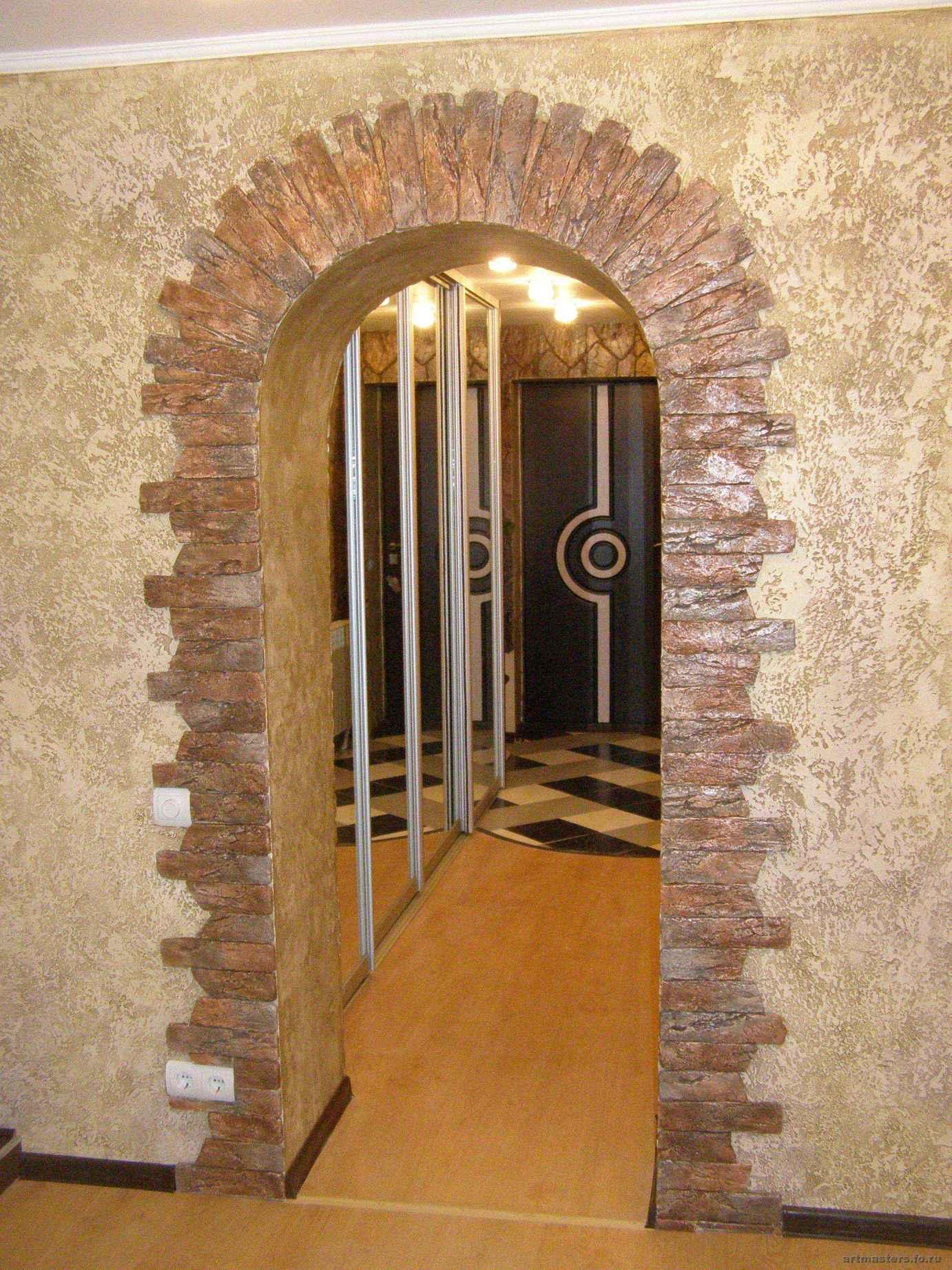Декоративная отделка арки в квартире своими руками фото 458