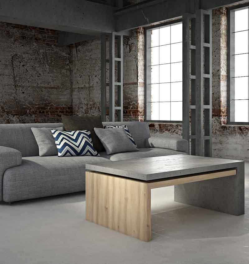 Стол с бетонной столешницей