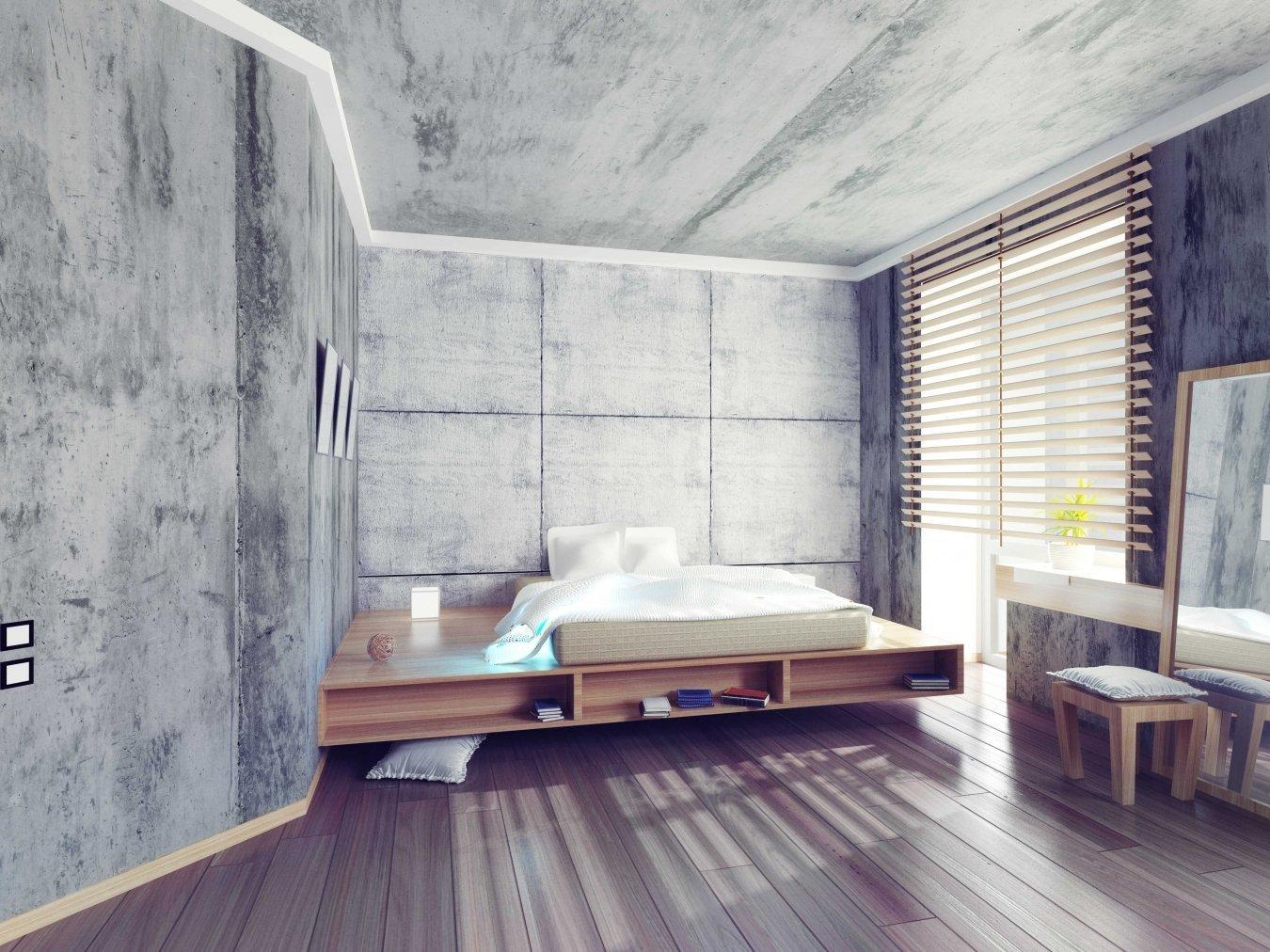 Необработанный потолок