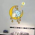 Луна с овечкой на стене