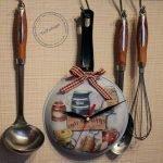 Сковорода со стрелками на стене