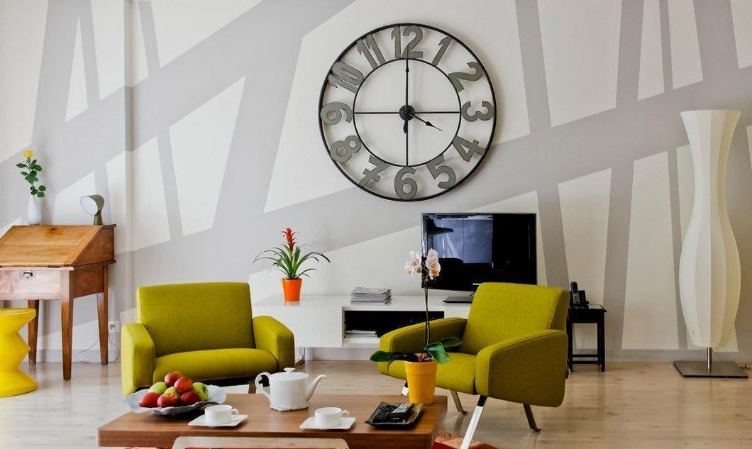 Часы в интерьере +75 фото примеров: настенные, напольные