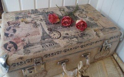 Декор старого чемодана — идеи для интерьера +75 фото
