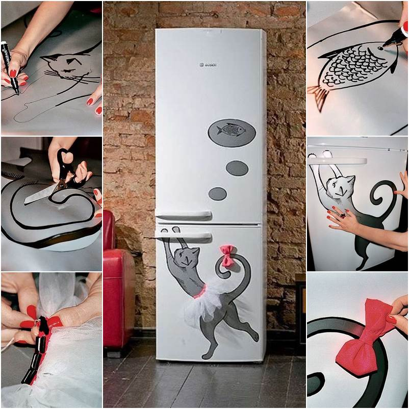 Наклейки для декора холодильника