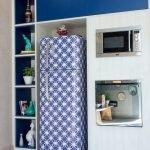 Синяя пленка для декора холодильника