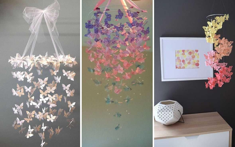 Примеры светильников с бабочками