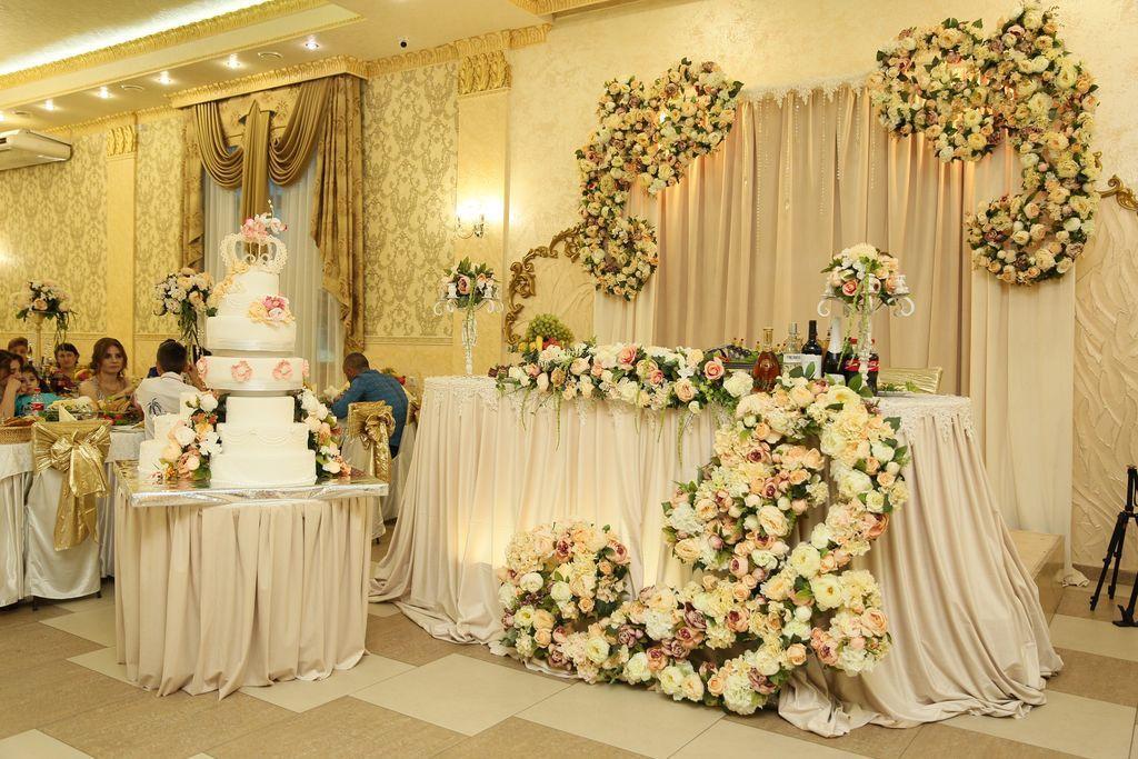 украшение зала на свадьбу фото в краснодаре