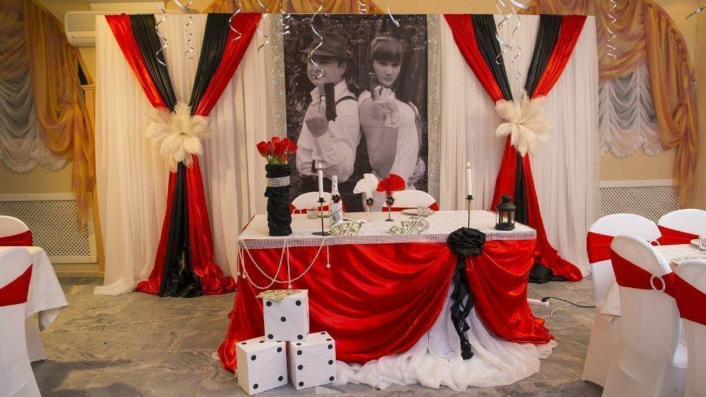 Гангстерские мотивы в оформлении свадебного зала
