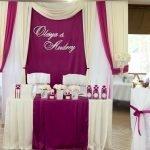 Оформление свадебного зала буквами