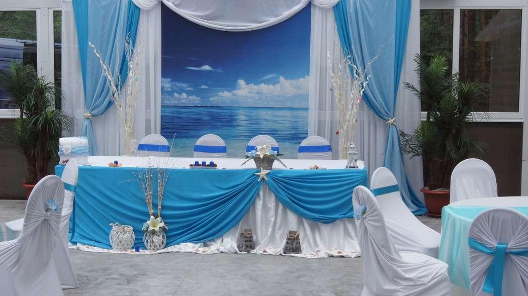 Оформление зала в морском стиле