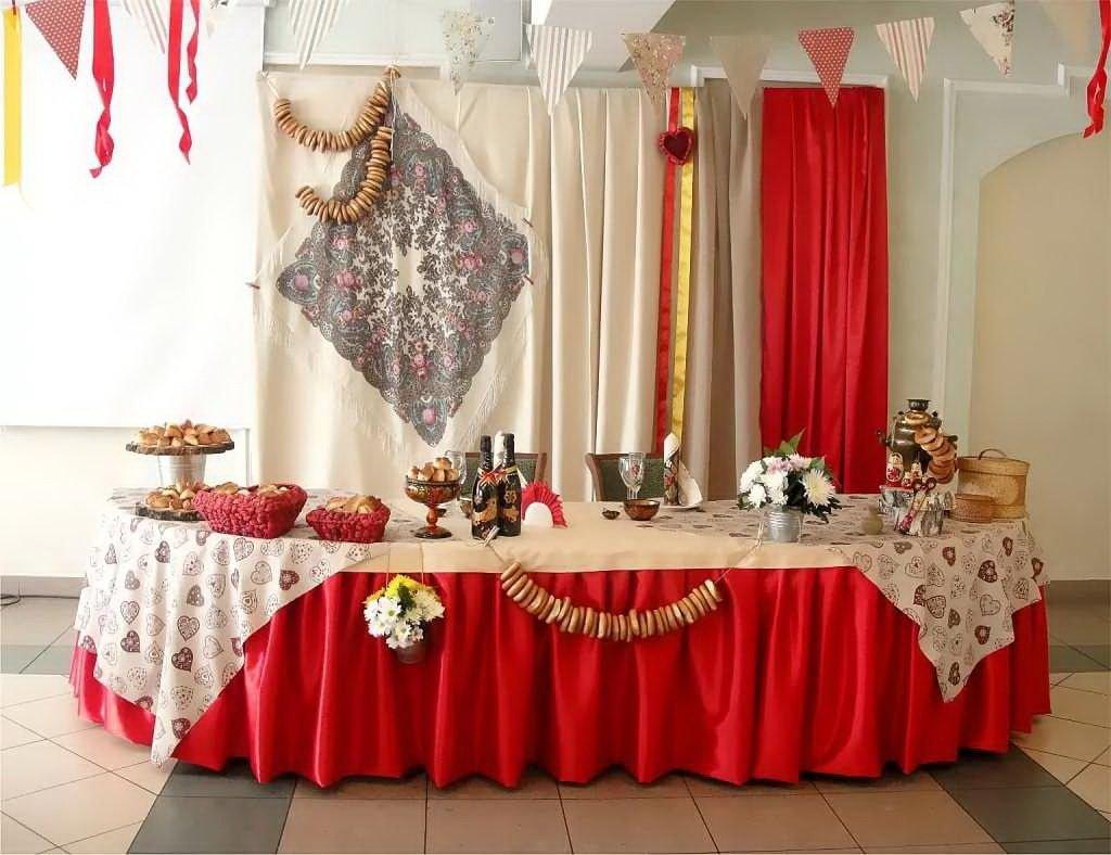 Оформление свадебного зала в русском стиле