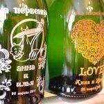 Свадебные мотивы на бутылках