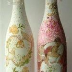 Свадебный декупаж бутылок