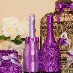Ленты и розочки на бутылках