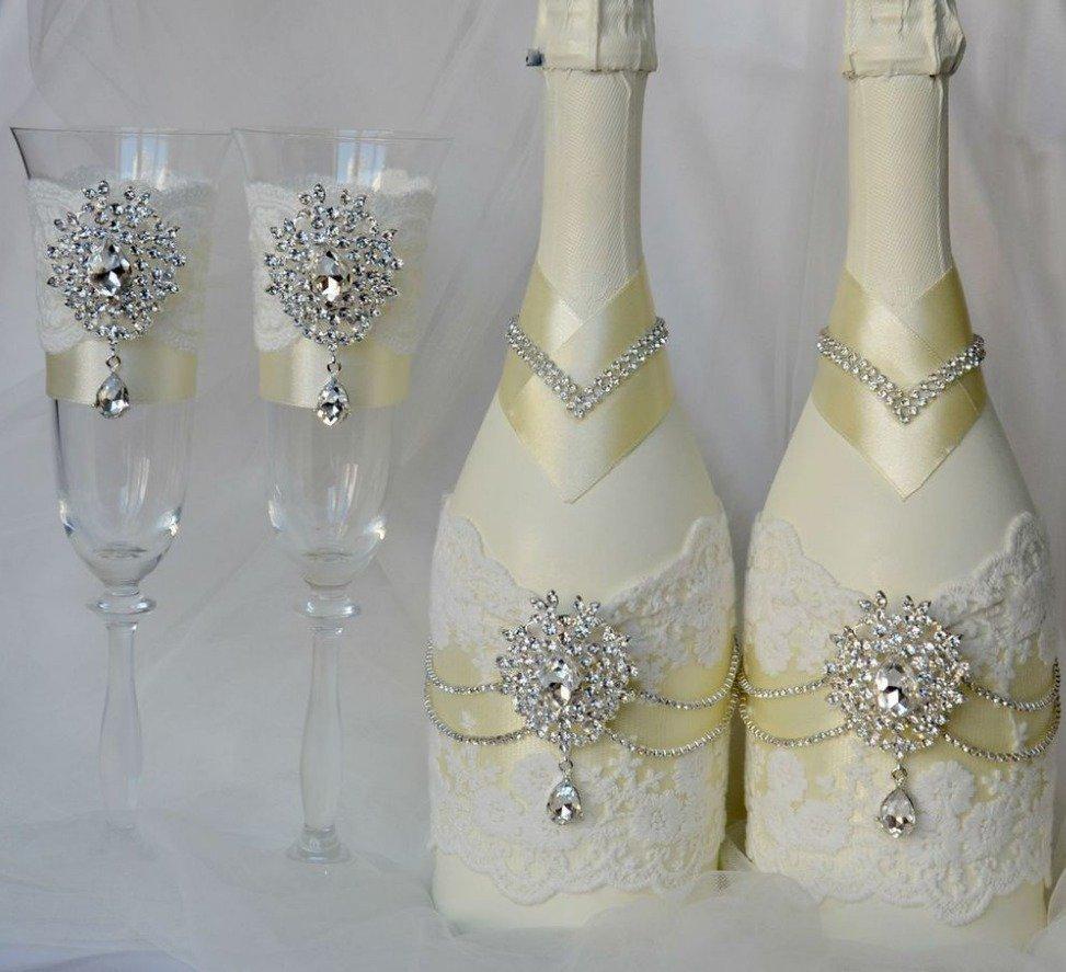 Сделать свадебные бокалы своими руками мастер класс