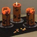 Страшные лица на свечах
