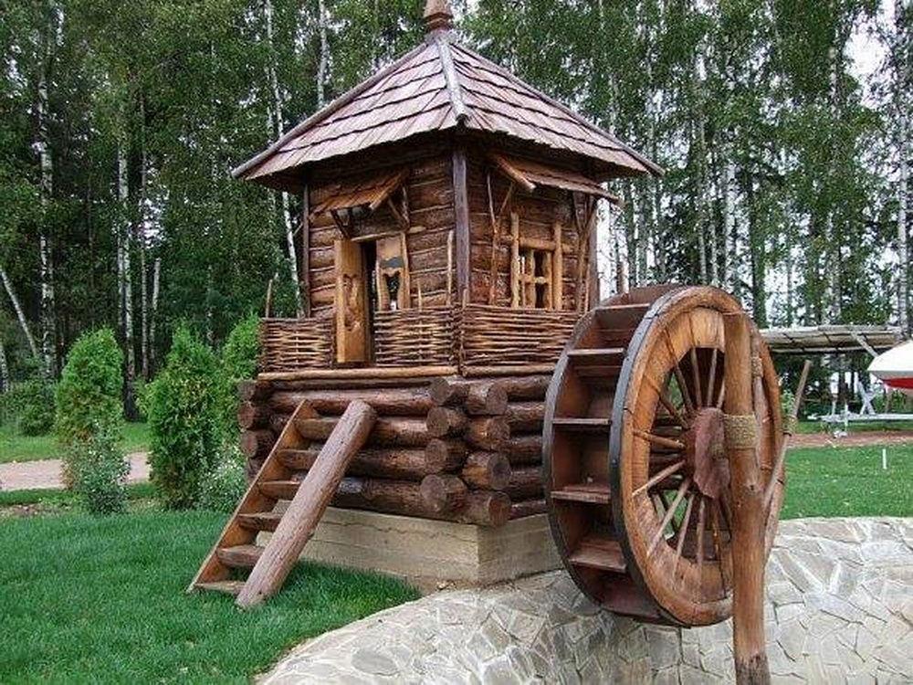 Декоративная мельница в стиле кантри