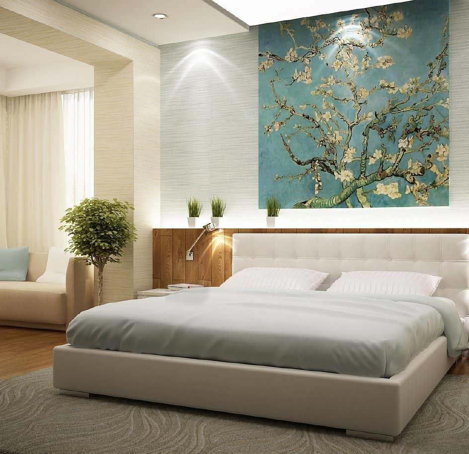 Спальни в бежевом цвете квартира фото сундуки получайте