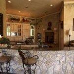Барная стойка из камня на кухне