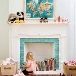 Декоративный камин в детской
