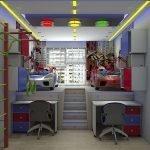 Потолок с разноцветной подсветкой в детской