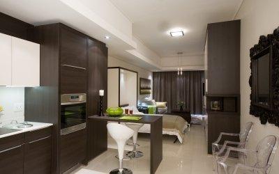 Дизайн кухни гостиной 17 кв. м. + 40 фото идей интерьера