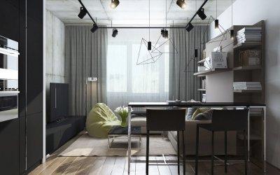 Дизайн кухни гостиной 30 кв. м. + 70 фото идей интерьера
