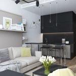 Дизайн интерьера в квартире-студии