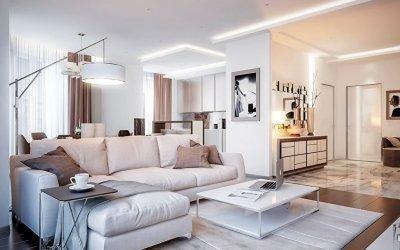 Дизайн квартиры в светлых тонах +75 фото