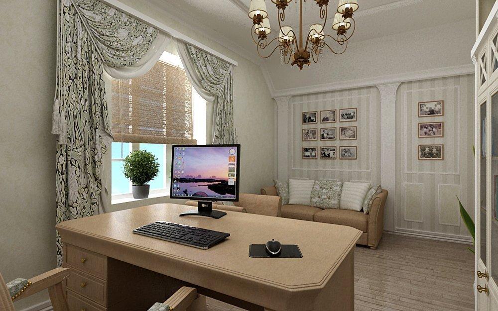 Светлый кабинет в квартире
